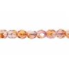 Fire polished 4mm Crystal/orange/rose Two-tone Aurora Borealis